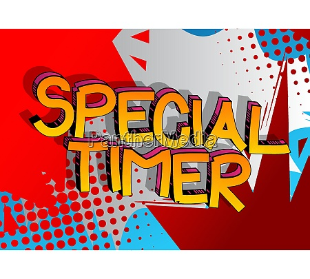 special timer comic book style cartoon