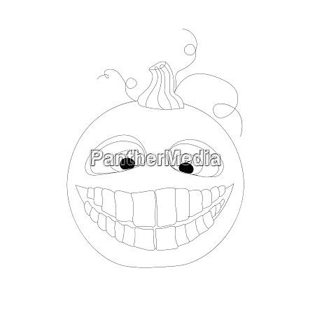 halloween coloring book funny pumpkin on
