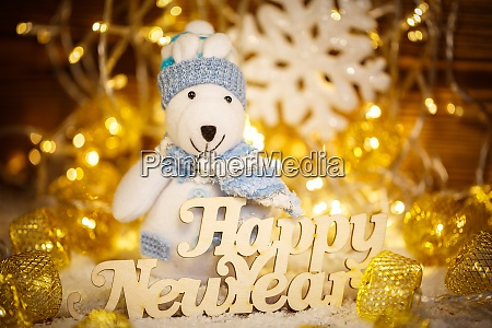 happy new year words christmas card