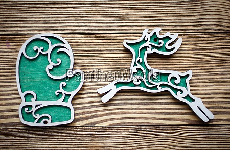 decorative wooden toys to celebrate christmas