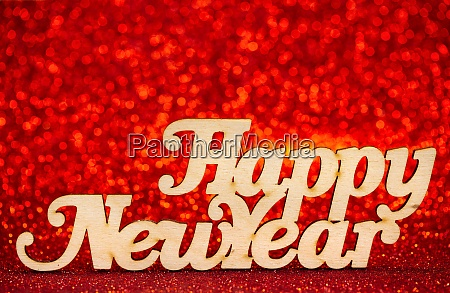abstract background new year wooden inscription