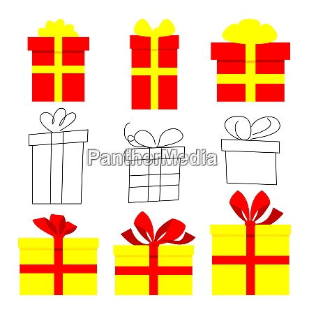 cartoon illustrated gift box vector icon