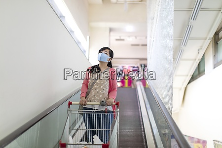 young woman wearing protective mask
