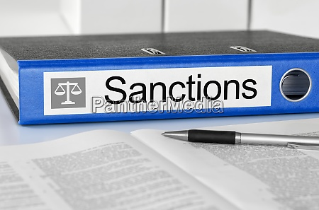 folder with the label sanctions