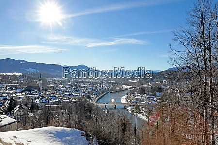 winter sun over bad toelz and