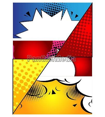 comic book design background cartoon illustration