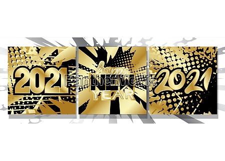 2021 happy new year luxury comic
