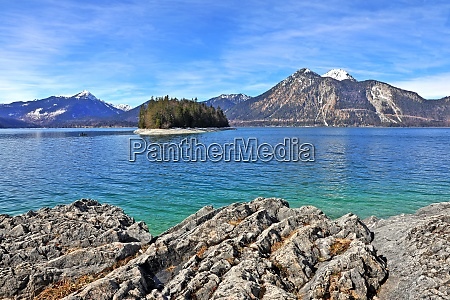 walchensee with a view of the