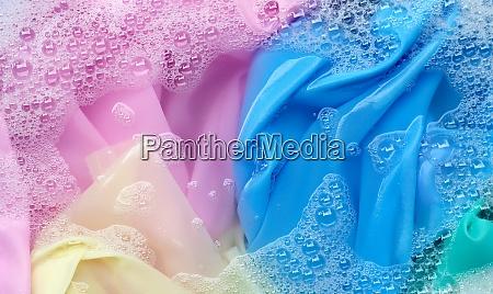 color clothes soak in powder detergent