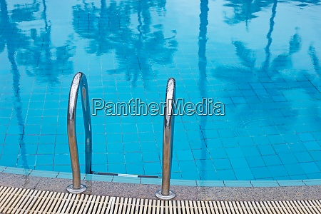 outdoor swimming pool with stair