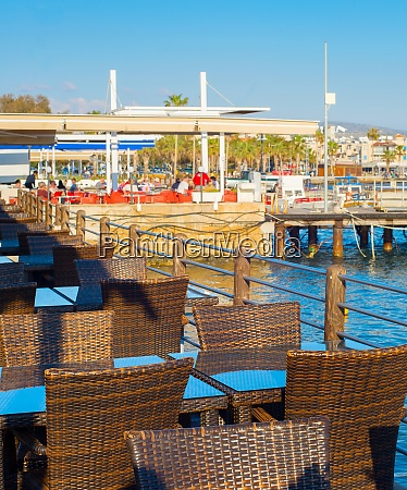 sea restaurant paphos port cyprus