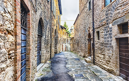 scenic streets of the medieval town