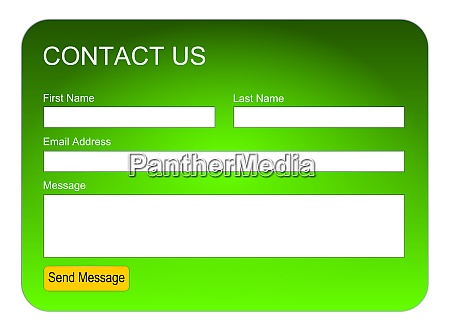 green contact us form or feedback