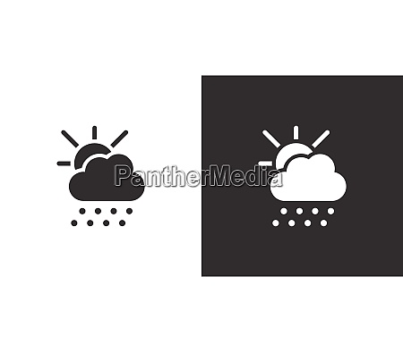 hail sun and cloud isolated icon