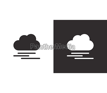 heavy fog and cloud isolated icon