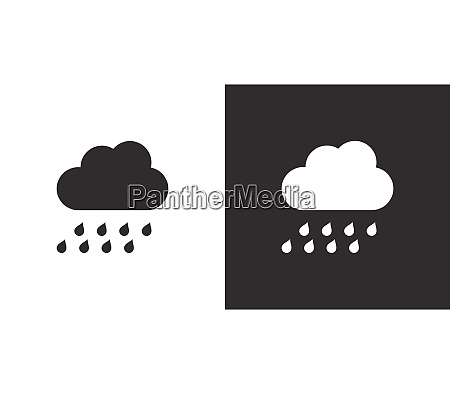 heavy rain and cloud isolated icon