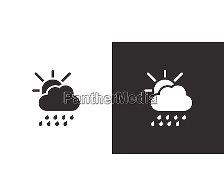 heavy rain cloud and sun isolated