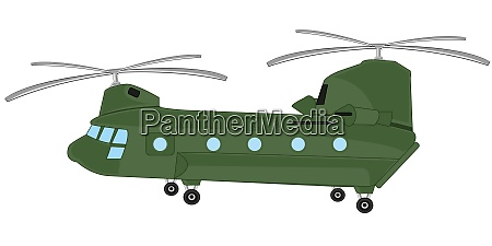 american helicopter on white background is