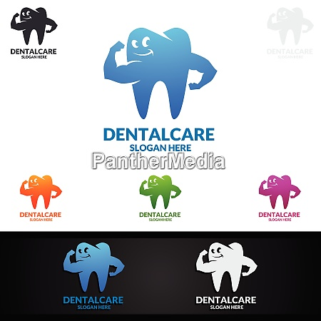 dental logo with tooth abstract design