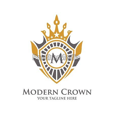 heraldry typography vector logo design with