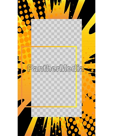 comic book style story vector template