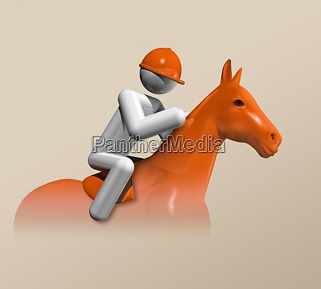 equestrian jumping 3d icon olympic sports