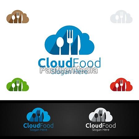 cloud food restaurant logo