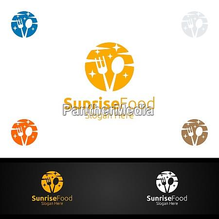sunrise food logo for restaurant or