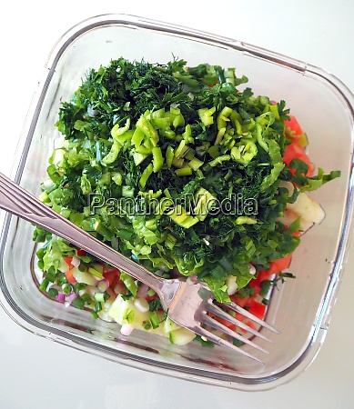 consuming salad for diet healthy lifestyle