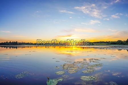 calm sunrise on a lake