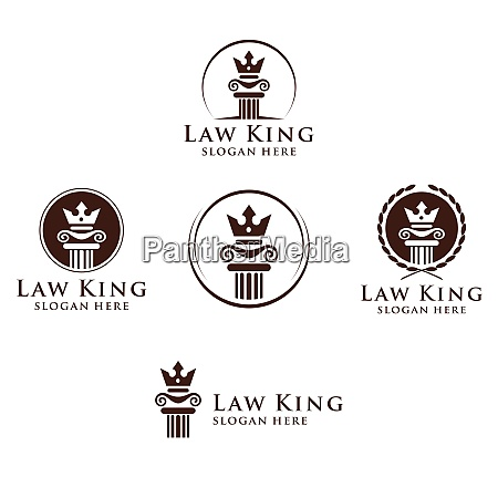 law and attorney firm vector logo