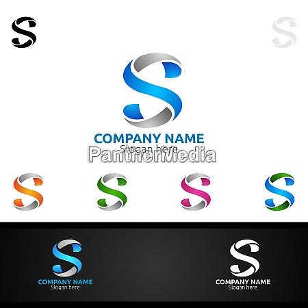 letter s for digital logo marketing