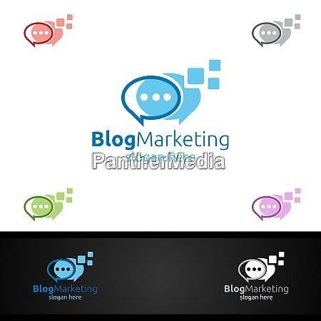 blog digital marketing financial advisor vector