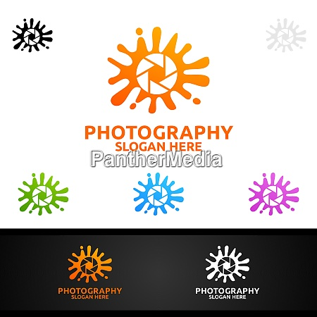 splash camera photography logo