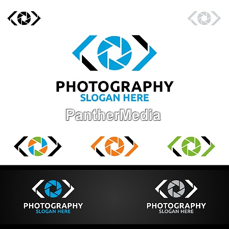 code camera photography logo
