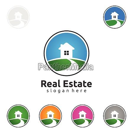 real estate vector logo design simple