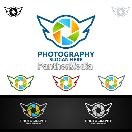 fly wing camera photography logo