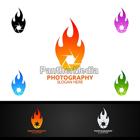 fire camera photography logo