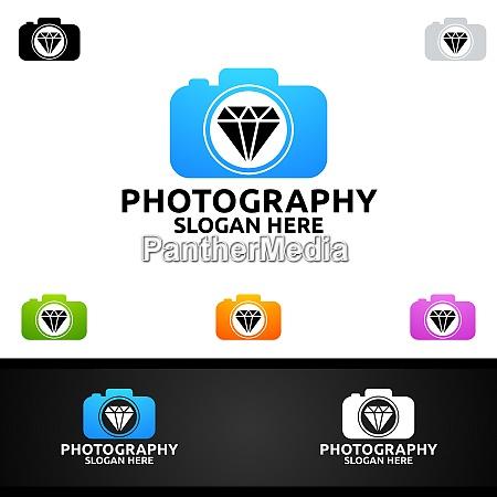 diamond camera photography logo