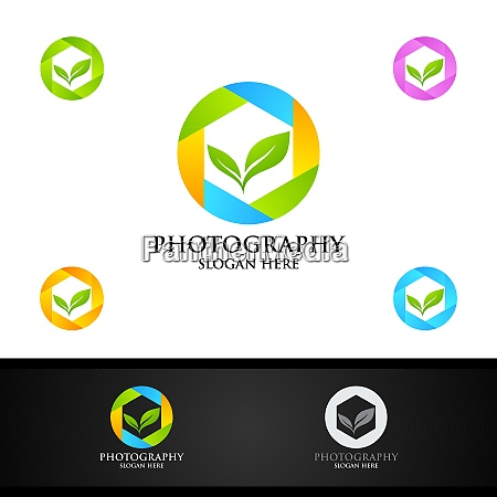 nature camera photography logo icon