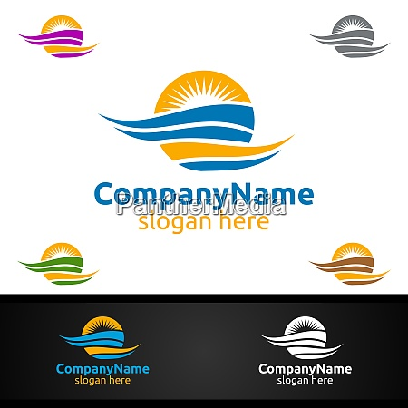 travel and tourism logo for hotel
