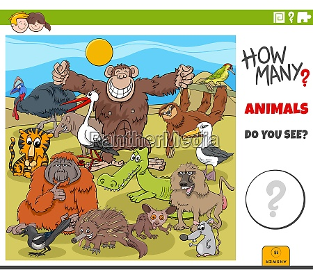 how many animals educational task for
