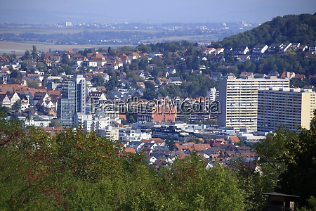 view of the city of leonberg