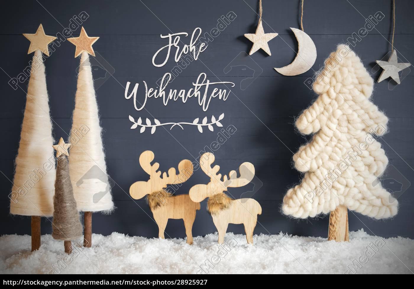 christmas, tree, , moose, , moon, , stars, , snow, - 28925927