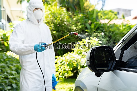 vehicle sterilization disinfection by ppe medical