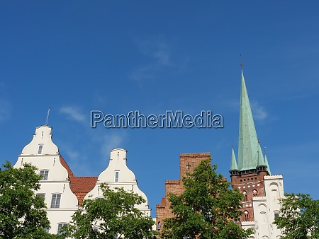 the city of luebeck in germany