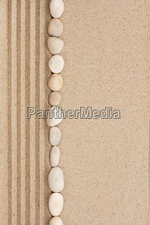 stripe of white stones lying on
