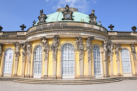 the famous sanssouci castle is a