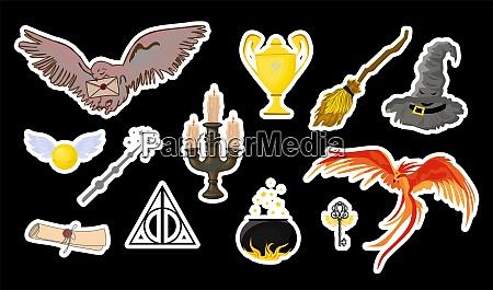 halloween stickers magic items for halloween