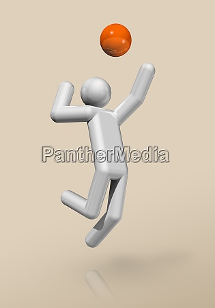 volleyball 3d icon olympic sports